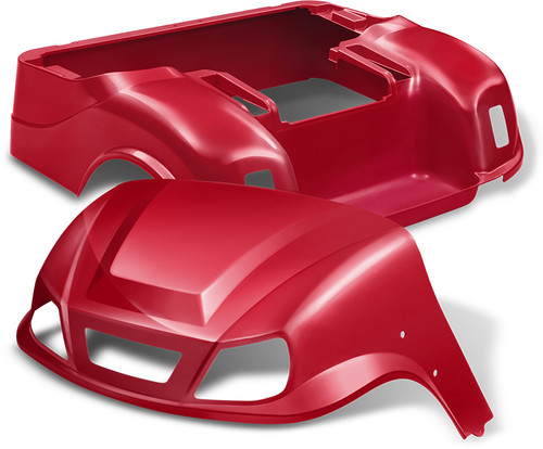 Doubletake EZ-GO TXT Titan Golf Cart Body Kit in High Gloss Red