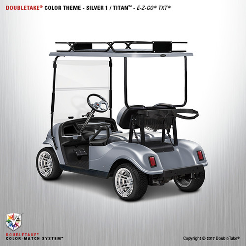 Doubletake EZ-GO TXT Titan Golf Cart Body Kit in Metallic High Gloss Silver