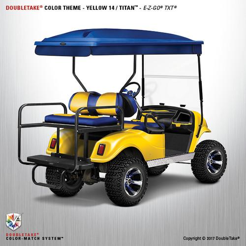 Doubletake EZ-GO TXT Titan Golf Cart Body Kit in High Gloss Yellow