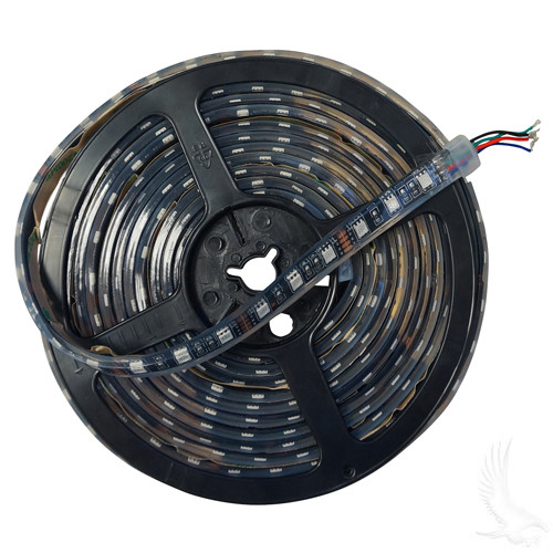Flexible LED Light Rolls, 16' w/ Wire Leads, 12 VDC, RGB