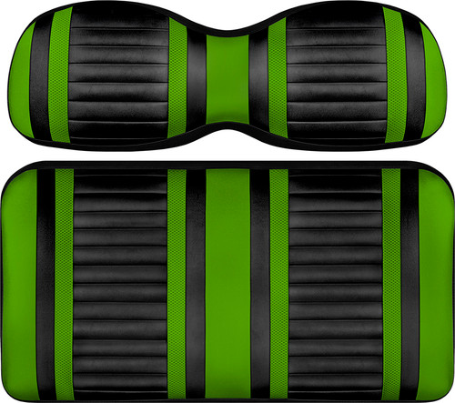 Doubletake Deluxe Extreme  Front Seat Cushion Set Black-Lime