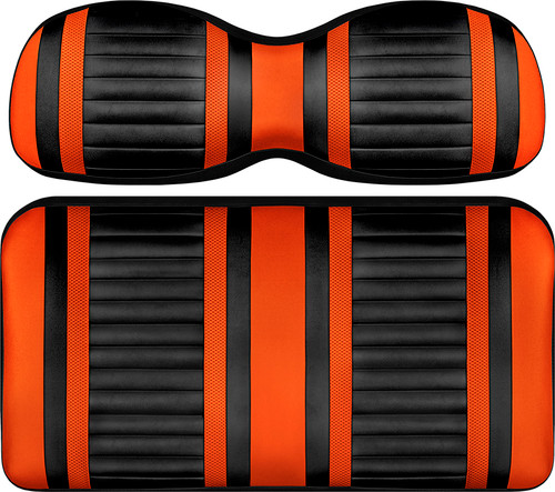 Doubletake Deluxe Extreme  Front Seat Cushion Set Black-Orange