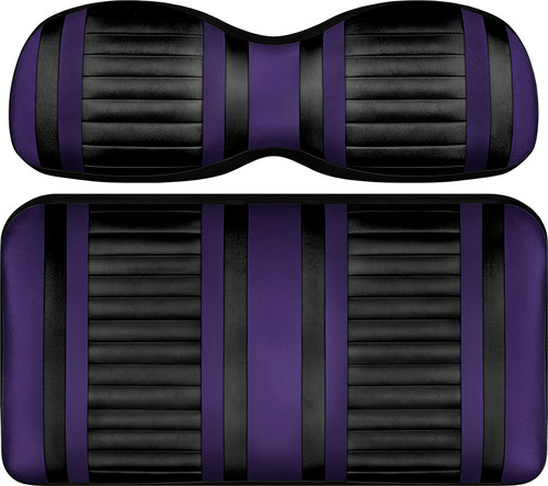 Doubletake Deluxe Extreme  Front Seat Cushion Set Black-Purple