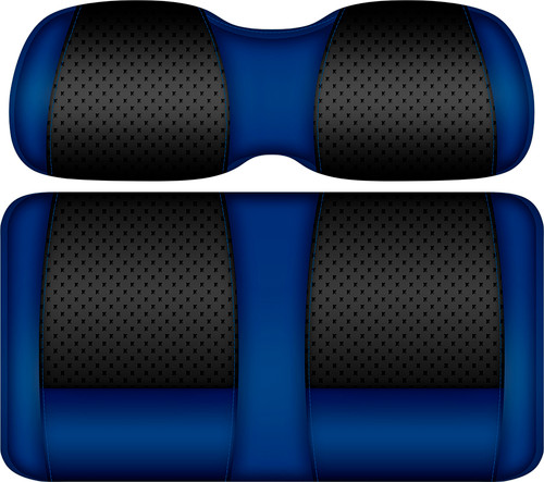 Doubletake Clubhouse Edition  Front Seat Cushion Set Black-Blue