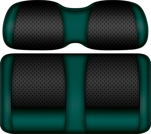 Doubletake Clubhouse Edition  Front Seat Cushion Set Black-Green