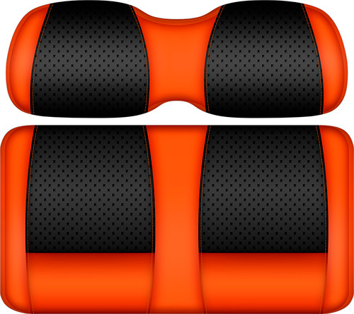 Doubletake Clubhouse Edition  Front Seat Cushion Set Black-Orange