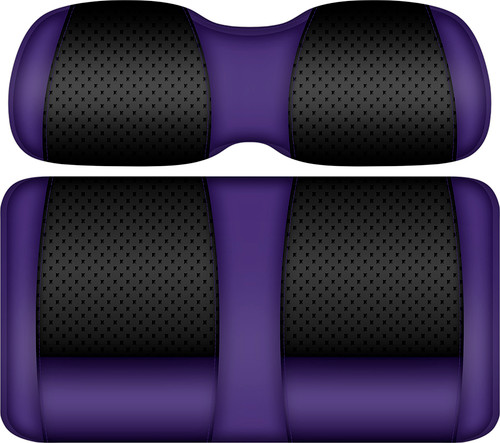 Doubletake Clubhouse Edition  Front Seat Cushion Set Black-Purple