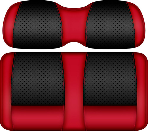 Doubletake Clubhouse Edition  Front Seat Cushion Set Black-Red
