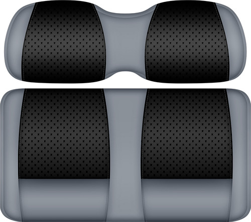 Doubletake Clubhouse Edition  Front Seat Cushion Set Black-Silver