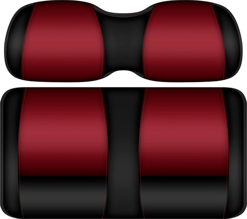 Doubletake FANatic Edition Front Seat Cushion Set Black-Ruby