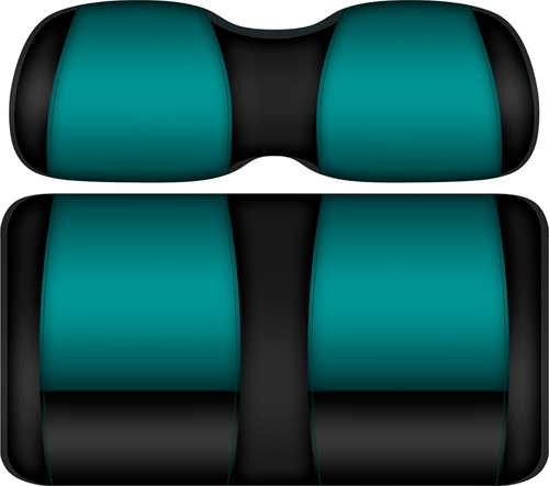Doubletake FANatic Edition Front Seat Cushion Set Black-Teal