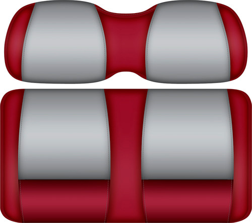 Doubletake FANatic Edition Front Seat Cushion Set Crimson-Gray