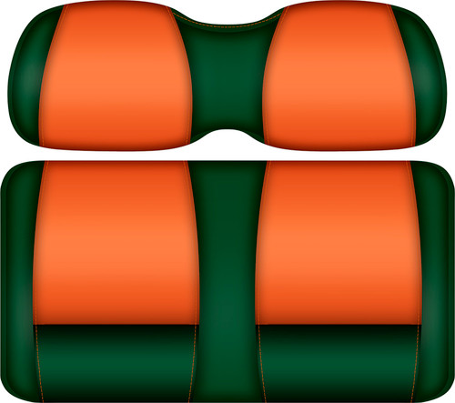 Doubletake FANatic Edition Front Seat Cushion Set Green-Tangerine