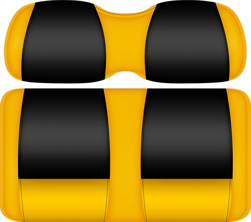 Doubletake FANatic Edition Front Seat Cushion Set Maize-Black