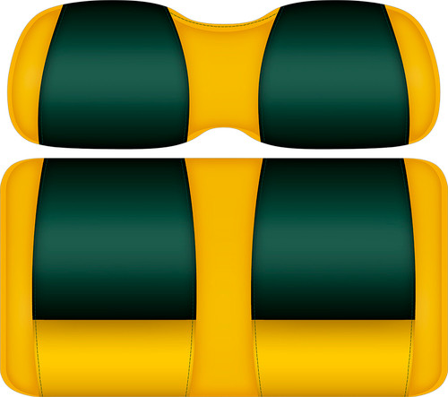 Doubletake FANatic Edition Front Seat Cushion Set Maize-Green