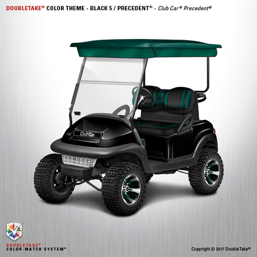Club Car Precedent Factory Style Golf Cart Body Kit in High Gloss Black