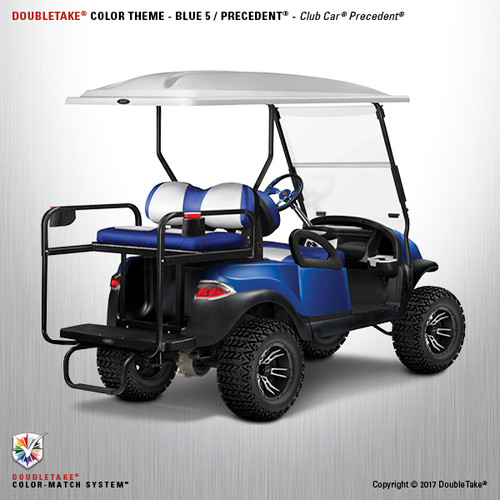 Club Car Precedent Factory Style Golf Cart Body Kit in High Gloss Blue