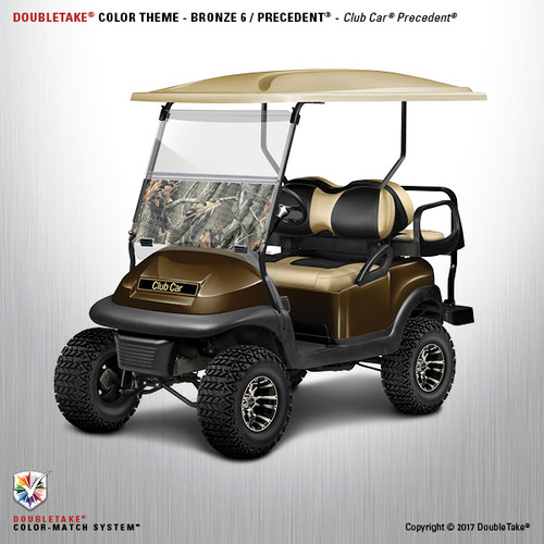 Club Car Precedent Factory Style Golf Cart Body Kit in Metallic Bronze