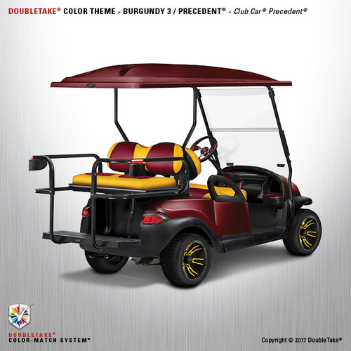 Club Car Precedent Factory Style Golf Cart Body Kit in Metallic Burgundy