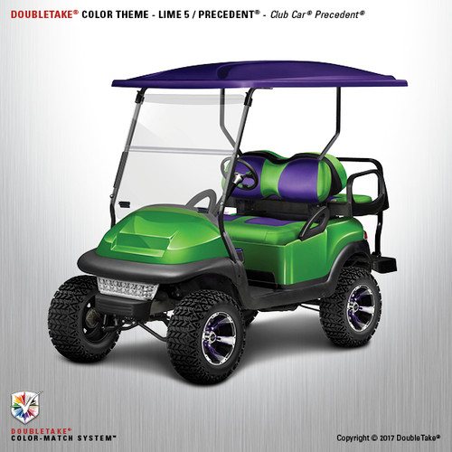 Club Car Precedent Factory Style Golf Cart Body Kit in Metallic Lime