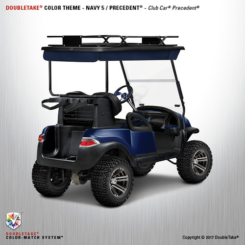 Club Car Precedent Factory Style Golf Cart Body Kit in High Gloss Navy