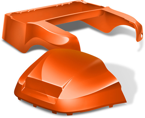 Club Car Precedent Factory Style Golf Cart Body Kit in High Gloss Orange