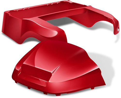Club Car Precedent Factory Style Golf Cart Body Kit in High Gloss Red