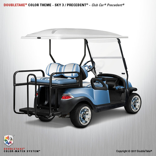 Club Car Precedent Factory Style Golf Cart Body Kit in High Gloss Sky Blue