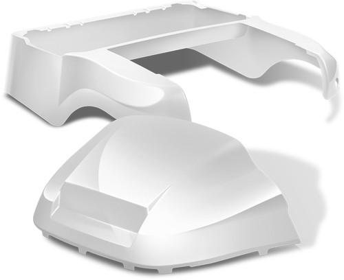 Club Car Precedent Factory Style Golf Cart Body Kit in High Gloss White