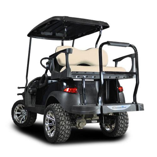 Club Car Precedent Genesis 300 Aluminum Rear Seat Beige Cushions Standard Complete Kit