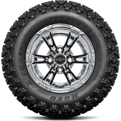 """Doubletake 12"""" Wicked 57 Series All Terrain Chrome with Black Set of 4"""