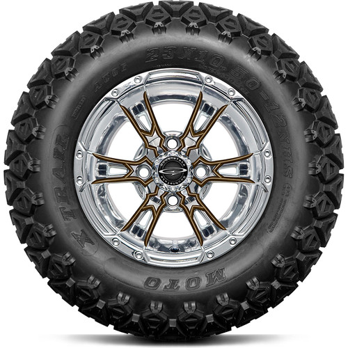 """Doubletake 12"""" Wicked 57 Series All Terrain Chrome with Bronze Set of 4"""