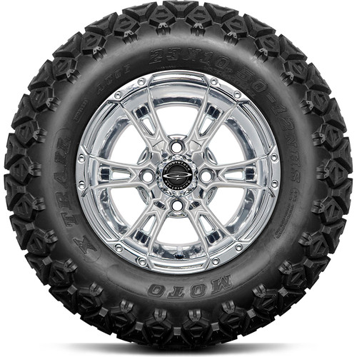 """Doubletake 12"""" Wicked 57 Series All Terrain Chrome with Pearl Set of 4"""