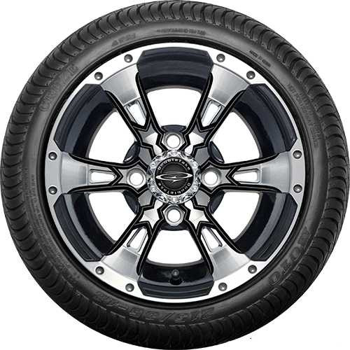 Doubletake Wicked 57 Series Machined Black with Black Street Tire