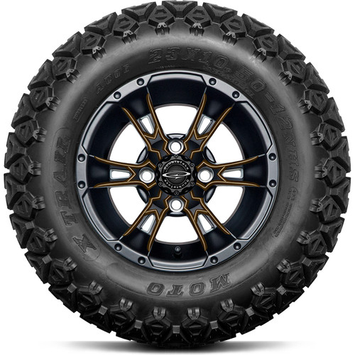 """Doubletake 12"""" Wicked 57 Series All Terrain Satin Black Finish with Bronze Set of 4"""