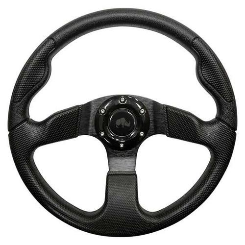 """Steering Wheel, Formula GT Black Grip/Black Spokes 13"""" Diameter"""