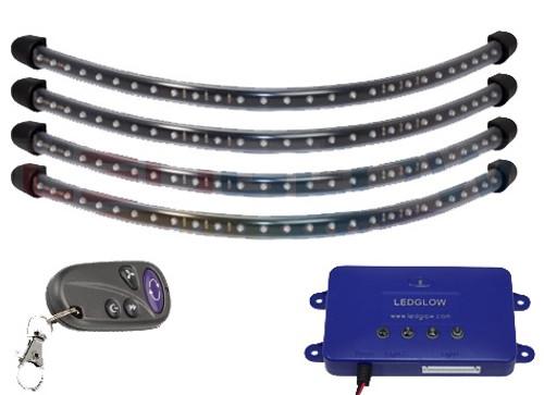 Multicolor LED Under Cart Light Package