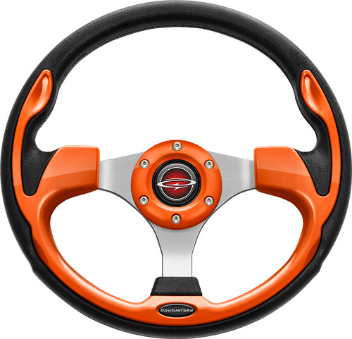 "Pilot 13"" Color Matched Steering Wheel Orange"