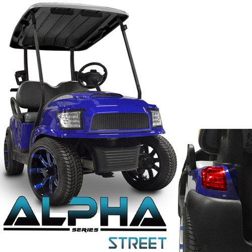 Madjax Alpha Golf Cart Body Kit in Blue | Extremekartz.com