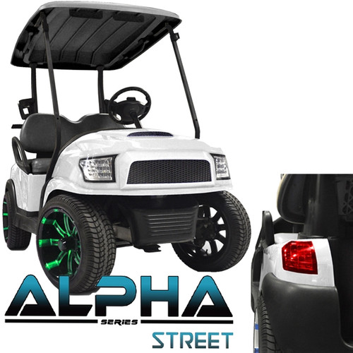 Madjax Alpha Golf Cart Body Kit in White | Extremekartz.com