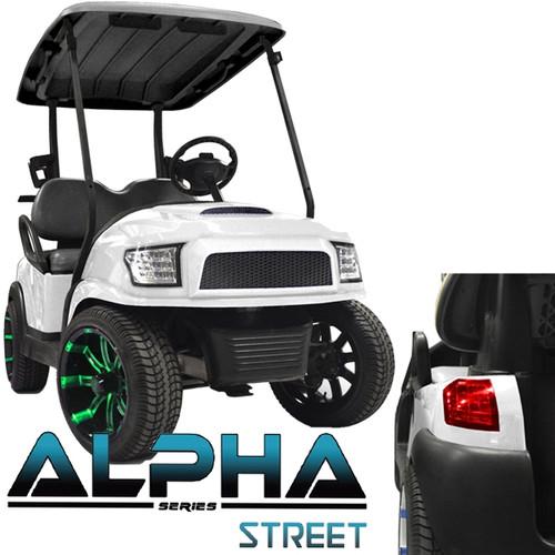 Madjax Alpha Golf Cart Body Kit in White | Extremekartz.com