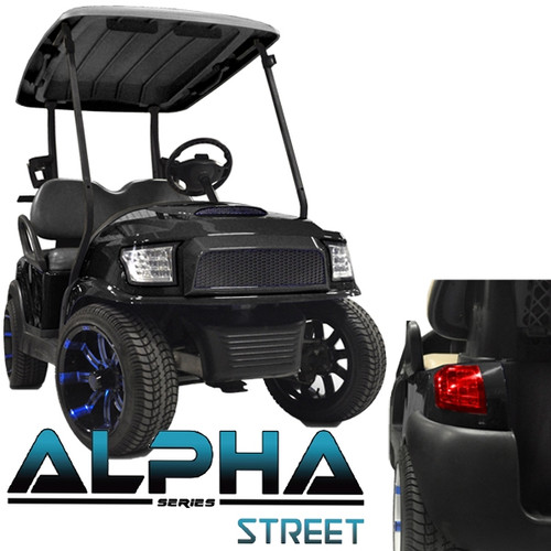Madjax Alpha Golf Cart Body Kit in Black | Extremekartz.com