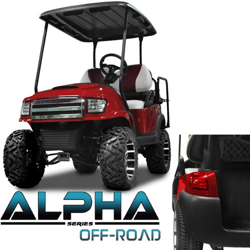 Madjax Alpha Golf Cart Body Kit in Red | Extremekartz.com