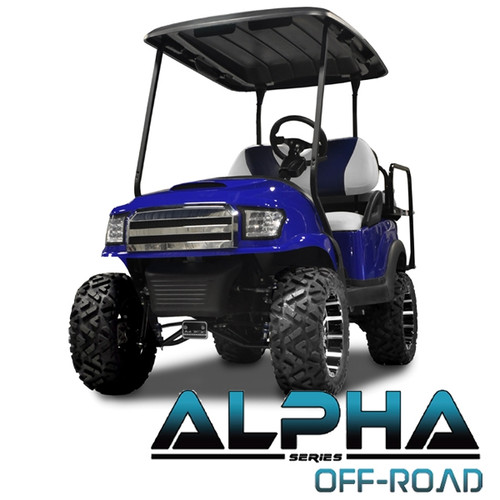 Madjax Alpha Blue Front Cowl w/ Off-Road Grill & Headlights