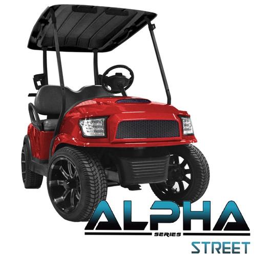 Madjax Alpha Red Front Cowl w/ Street  Grill & Headlights
