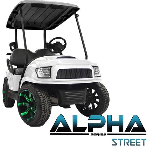Madjax Alpha White Front Cowl w/ Street  Grill & Headlights