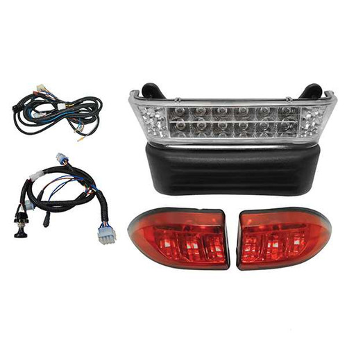 Super Bright LED Complete Light Bar Bumper Kit, Club Car Precedent Electric 08.5+ with 12V Batteries