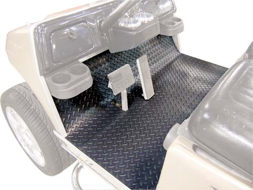 Club Car Precedent Diamond Plate Black Floor Cover