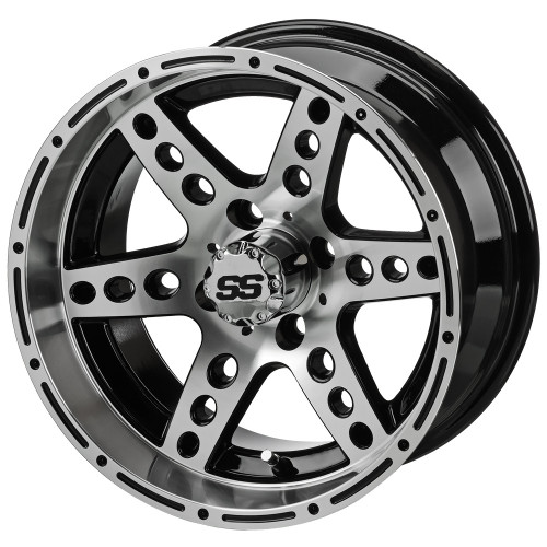 LSC Chaos SS Mach/Black 14X7 3:4 Offset for Club Car, EZ-GO and Yamaha Golf Carts
