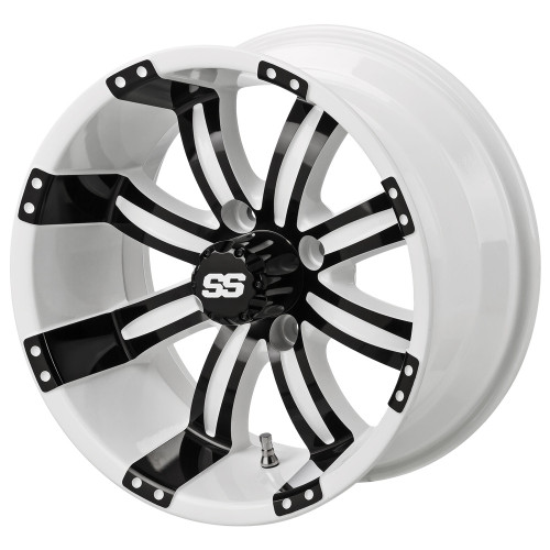 LSC Casino SS White/Black 14X7 3:4 Offset for Club Car, EZ-GO and Yamaha Golf Carts
